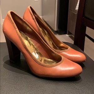 Lightly worn brown heels